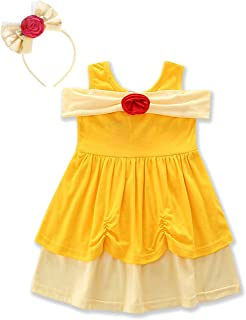 HenzWorld Little Mermaid Dress Ariel Costume Outfit Playwear Birthday Party Cosplay Bowknot