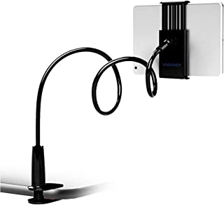 Gooseneck-type tablet computer stand, can be bent and fixed on the bed frame table, used for iPad iPhone series/Samsung Ga...