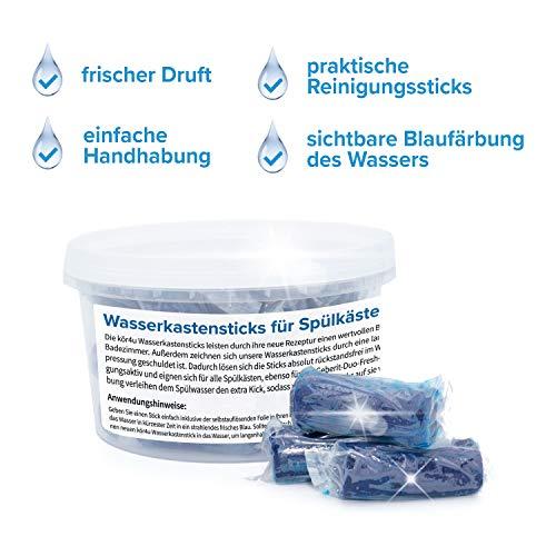 kör4u Wasserkastensticks für Spülkästen 30 Stück I für Duofresh I strahlende Frische bei jeder Spülung I Made in Germany