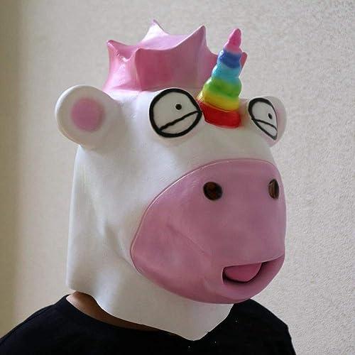 precio razonable Circlefly Unicornio de Halloween Máscara Látex Máscara Máscara Máscara máscara de un Animal Campana  genuina alta calidad