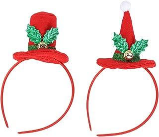 BESTOYARD Christmas Toys Headbands Mini top hat Hair Bands Santa caps Holiday Headbands Costume Hair Accessories for Kids Adult Cosplay Christmas Party 2Pcs