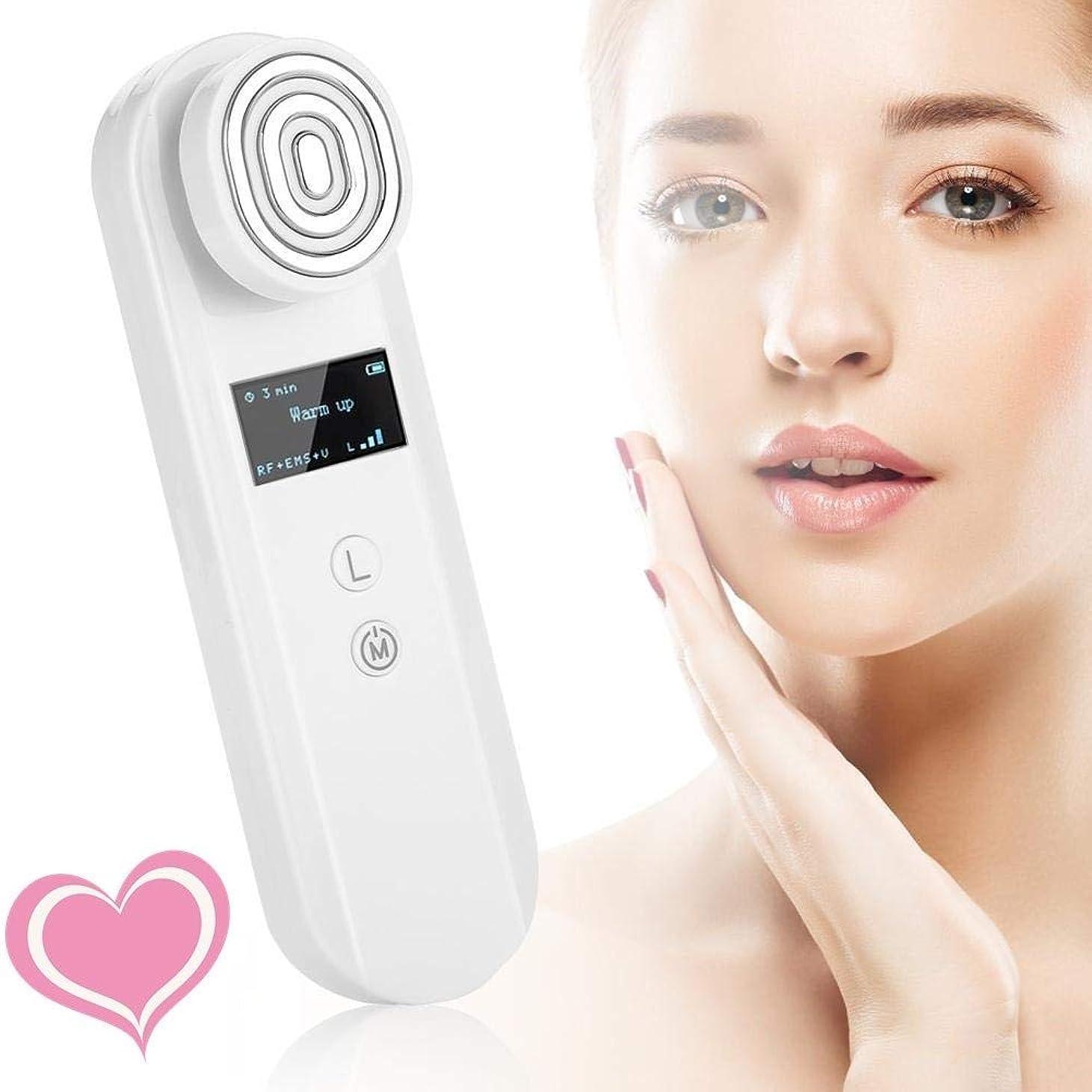 判読できない者アラビア語ソニックフェイシャルマッサージ装置のRF理学療法顔美容機器、美容機器しわ除去アンチエイジング、肌のマッサージツール、リフトと企業肌を引き締めEMSスキン、ホーム&ビューティーサロンポータブル