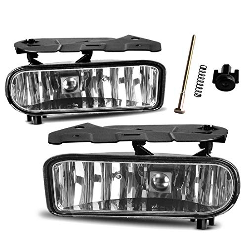 Fog Lights Compatible with 02-06 Cadillac Escalade 02-06 Cadillac Escalade EXT 03-06 Cadillac Escalade ESV Driving Bumper Lamps Kit (OE Clear Lens)