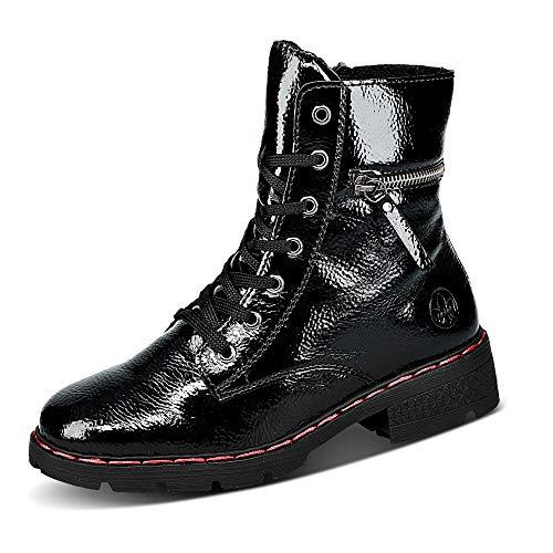 Rieker Damen Stiefel 76304, Frauen Schnürstiefel,Boots,Combat,schnürung,weiblich,Lady,Ladies,Women\'s,Woman,schwarz (00),40 EU / 6.5 EU