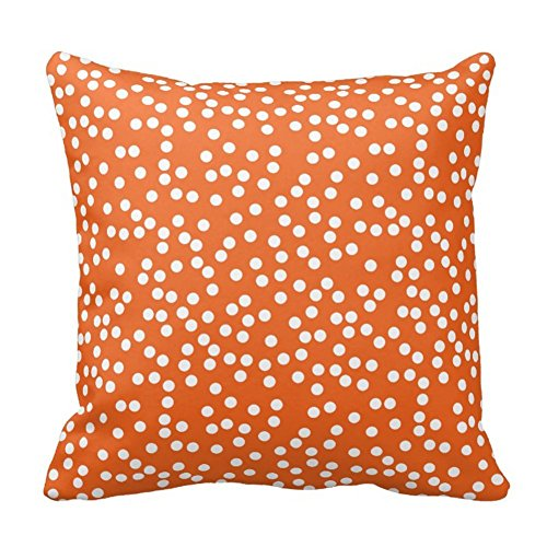 Bags-Online Random Small Polka Dots in Orange Throw Pillow Case Home Fashion Style