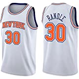 DIMOCHEN Movement Ropa Jerseys de Baloncesto para Hombres, NBA New York Knicks #30 Julius Randle, Fresco, cómodo, Camiseta Uniformes Deportivos Tops(Size:XL,Color:G1)