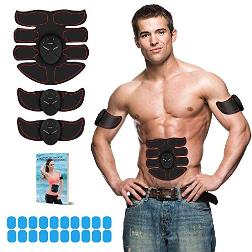 Eon Concepts Muscle Toner Trainer Ultimate Abs Stimulator With 20 EXTRA Gel Pads | EMS Abdominal Toning Belt For Men & Women | Arm & Leg Trainer | Portable Office Home & Gym Fitness Equipments