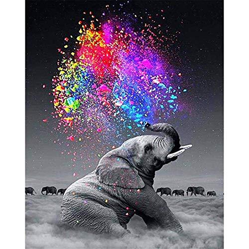1000 piezas Puzzle   Elefante rociando arcoiris   Rompecabezas para niños adultos juego creativo rompecabezas Navidad decoración del hogar regalo