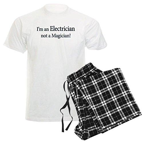 CafePress I'm an Electrician Not A Magi Unisex Novelty Cotton Pajama Set, Comfortable PJ Sleepwear