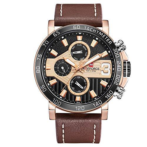 Reloj Digital para Hombre Reloj Deportivo Informal Reloj con Esfera de Acero Inoxidable -E