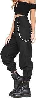 VITryst Womens Elastic Bottom Fall Solid All-Match Jogger Cargo Pants