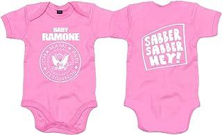 Racker-n-Roll Baby Ramone Pink Bio-Baumwolle Baby-Body Fuchsia
