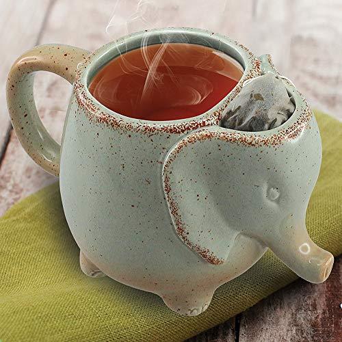 15oz Elephant Tea Mug Green