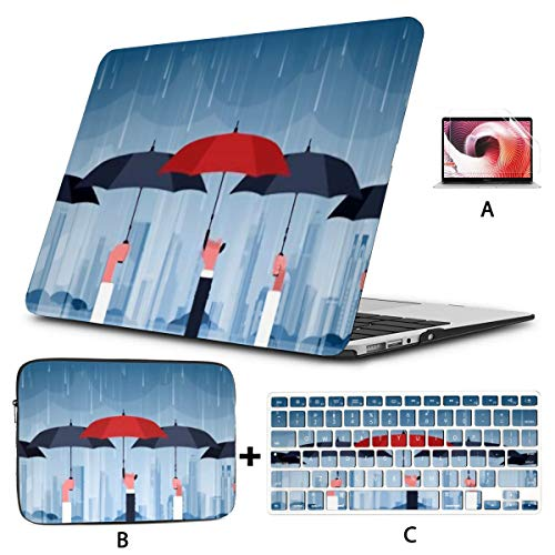 MacBook Case 15' Pro Touch Bar 2016-2019 A1990/A1707,3D Rendering Abstract Fast Moving Stripe Plastic Hard Shell,Sleeve Bag,Keyboard Cover,Screen Protector,4 in 1 Laptop Case