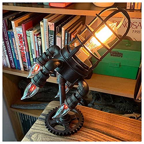 ZHMIAO Lámpara de Cohete de Steampunk Luces LED Retro para lámparas de Nave de Dormitorio Sala de luz Industrial Decoración de Oficina Estética