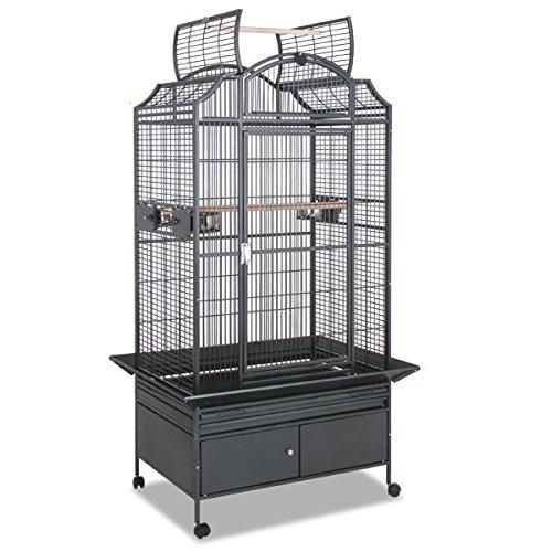 Montana Cages ® | Papageienkäfig, Käfig, Voliere Las Vegas I - Antik mit Unterschrank