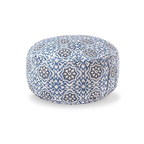 Lotuscrafts Yogakissen Meditationskissen Rund Lotus - Sitzhöhe 15cm - Waschbarer Bezug aus Baumwolle - Yoga Sitzkissen mit Dinkelfüllung - GOTS Zertifiziert (Mehera Shaw Edition)