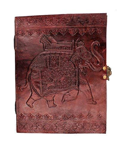 Chic & Zen Notizblock, Tagebuch, Buch, echtes Leder, Vintage, Metallverschluss,...