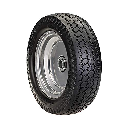 SLT 4.10/3.50-4LP Flat Free Wheelbarrow Tire on Wheel, 2.2