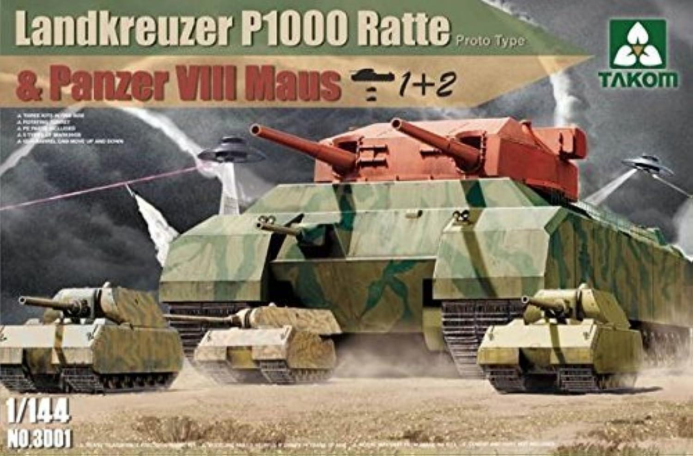 productos creativos Takom Takom Takom 1 144 Landkreuzer P1000 Ratte & Panzer VIII Maus (1+2) NO. 3001 by TAKom  echa un vistazo a los más baratos