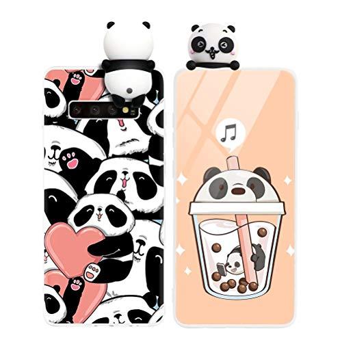 Yoedge Funda para Samsung Galaxy A20e, Silicona Cárcasa 3D Animal Muñecas Toy con Dibujos Antigolpes de Diseño Suave TPU Ultrafina Case Cover Fundas Movil para Samsung Galaxy A20e 5,8, Panda 3
