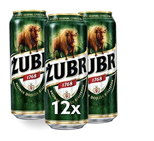 Große Dose 500ml! ZUBR das Wisent Bier aus Polen 12 Dosen im Paket Bier Piwo