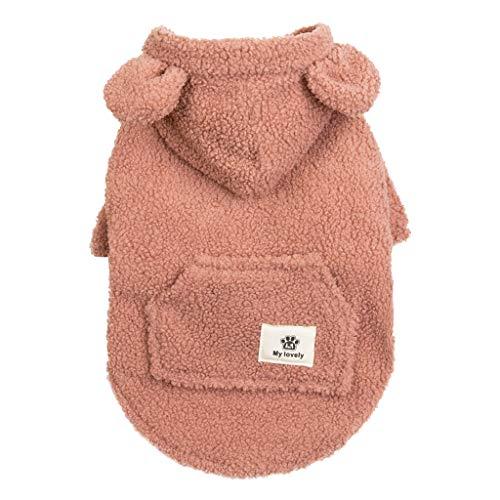 LHWY Haustier Hund Kleidung, Jacke Katzen Hunde Kapuzenjacke Druck Hundemantel-T-Shirt Winter Sweatshirt für Welpen