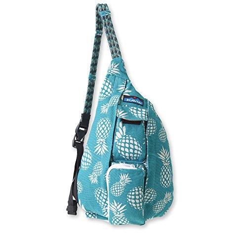 KAVU Mini Rope Bag Cotton Crossbody Sling  - Pineapple Passion