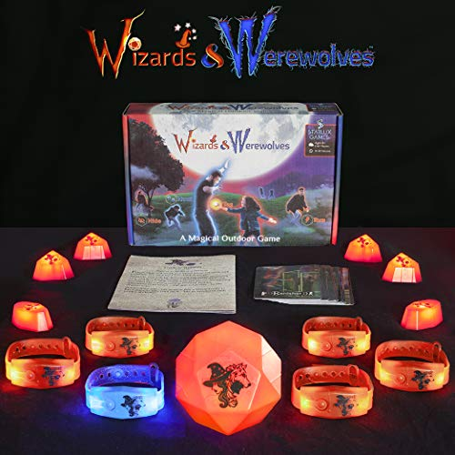 Starlux Games: Wizards & Werewolves - an Active Outdoor Group Game with Hide and Seek, Tag and Glow-in-The-Dark Elements - Perfect Werewolf Game for RPG, DND, LARP and Costume Fantasy Fans