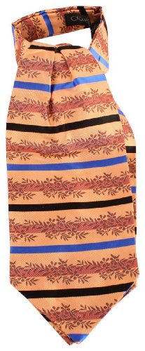 Knightsbridge Neckwear Orange Striped Floral Silk Cravates de