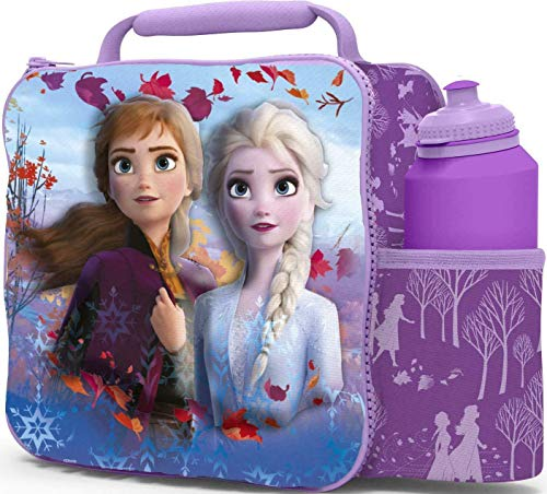 Kids Toys Insulated School 3D Lunch Box with Water Bottle (Frozen 2)