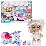 Kindi Kids Muñeca Marsha Mello, Moto de Entrega y 3 Accesorios exclusivos Shopkins – Juego de muñecas Kindi Kids