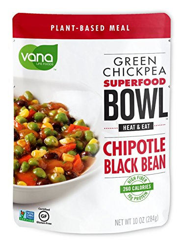 Vana Life's Foods 100% Natural Plant based SuperFood Bowl with Chipotle and Black Bean - Emergency Instant Protein Meals | Gluten Free, Vegan Free, Non-GMO - Product of The USA