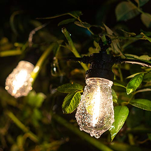 LUKASUMI 15FT Indoor Outdoor String Lights, 10 Listed E14 Plastic Bulbs, Waterproof Hanging Strand for Patio Garden Porch Backyard Party, Wedding Festival Decor, Low Voltage, Heavy Duty, Low Cost