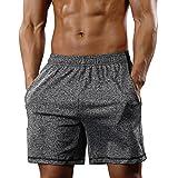 Gash Hao Athletic Gym Shorts Mens Workout Running Bodybuilding Training Short, Gray, Large