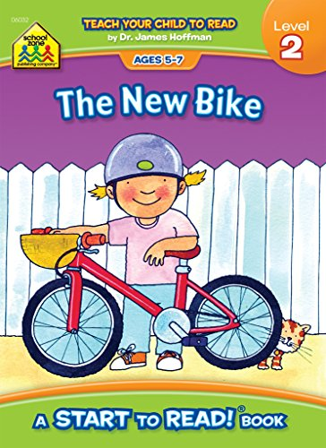 School Zone - The New Bike, Start to Read!® Book, Level 2 - Ages 5 to 7, Rhyming, Early Reading, Vocabulary, Sentence Structure, Picture Clues, and ... (School Zone Start to Read Book, Level 2)