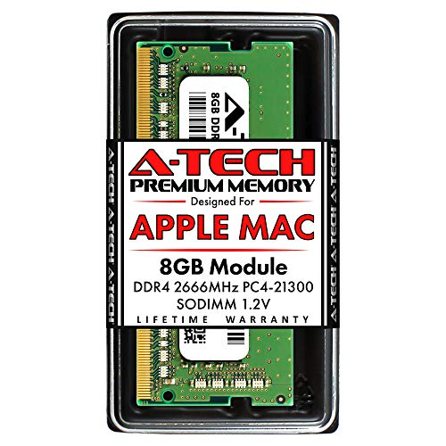 A-Tech 8GB DDR4 2666MHz RAM for Apple 2019 & 2020 iMac 27 inch (iMac19,1 iMac20,1 iMac20,2), 2018 Mac Mini | PC4-21300 SO-DIMM 260-Pin Memory Upgrade Module