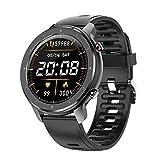 LKM La Nueva Pulsera Inteligente T30 Reproducción de música Local con TWS Bluetooth Headset Playback Monitoreo de tarifas cardíacas Reloj Deportivo,A