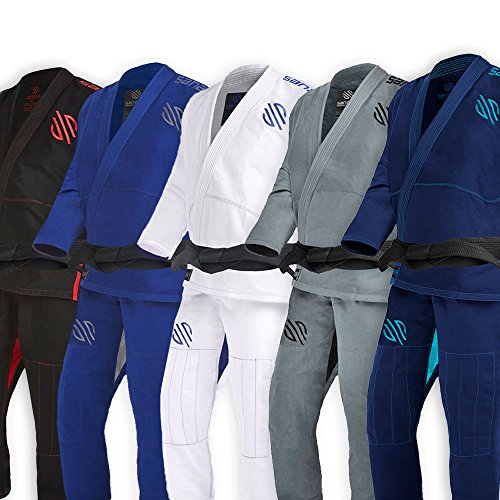 Sanabul Essentials V.2 Ultra Light Pre Shrunk BJJ Jiu Jitsu Gi (Navy, A1) See Special Sizing Guide