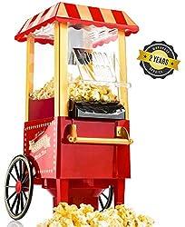 Gadgy Popcorn Maschine   Retro Popcorn Maker   Heissluft Ohne Fett Fettfrei Ölfrei