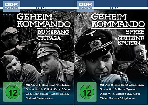 Geheimkommando Bumerang/Ciupaga/Spree/Geheime Spuren / 4 Filme [DVD Set]