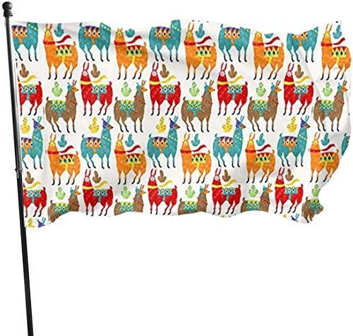 YRTGF Gartenflagge Dies ist eine Alpaka-Collage Außenbanner 3x5 Fuß US-Polyester-Flagge UV-lichtbeständige dekorative Zäune/Garten/Patio/Rasen