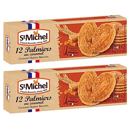 サンミッシェル パルミエ キャラメル100g 2箱セット フランス クッキー ビスケット 輸入菓子 ギフト