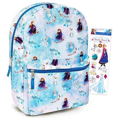 Disney Frozen Backpack for Girls Kids Adults ~ 16' Disney Frozen School Backpack Bag Bundle with Stickers (Frozen School Supplies)