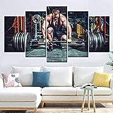 zlhcich HD Druck Leinwand Nordic Poster Wandkunst Gewichtheben Fitnessgeräte Bild Malerei Sport...