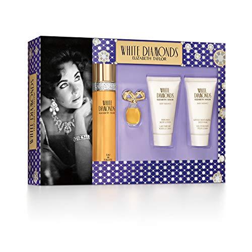 Elizabeth Taylor White Diamonds Ladies Gift Set With Spray, Body Lotion, Body Wash & Perfume