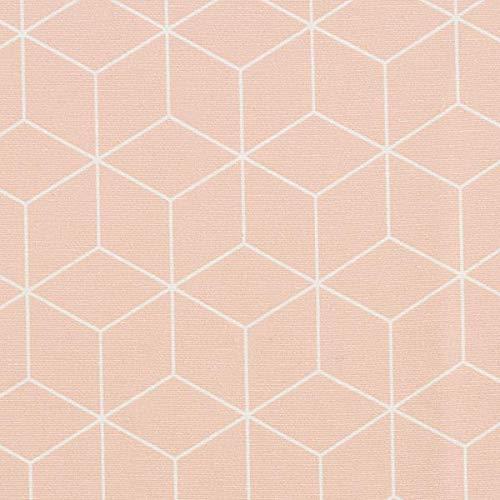 Dekostoff Canvas grafische Sterne – apricot — Meterware ab 0,5m — zum Nähen von Gardinen, Kissen/Tagesdecken & Homeaccessoires