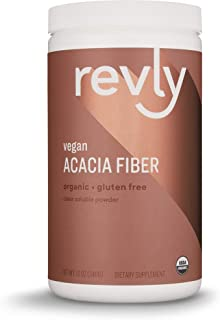 Amazon Brand - Revly Organic Acacia Fiber Powder, 12 Ounce, 52 Servings, Vegan