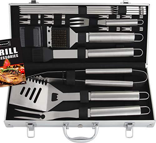 Romanticist 18pc Ustensiles pour Barbecue - Premium...
