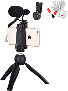 COMICA CVM-VM10-K2 Smartphone Video Rig with Cardioid Directional Shotgun Video Microphone with Shock-Mount + Mini Tripod for iPhone 5, 5C, 5S, 6, 6S, 7, 8, X (Regular and Plus), Samsung Galaxy, Note